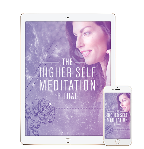 ipad and iphone displaying the higher self meditation ritual